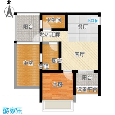 城市童话44.50㎡一期单体楼标准层C户型