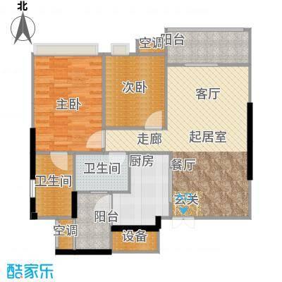 重庆天地雍江悦庭重庆天地・雍江悦庭79.00㎡4号楼2户型