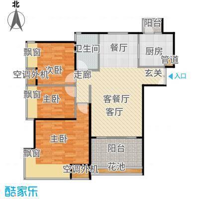 东方新世界户型3室1厅1卫1厨