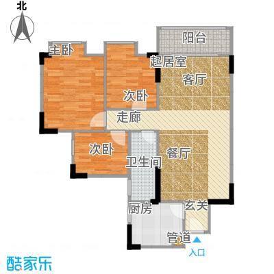 宏润巴塞阳光88.63㎡A-1号楼-12F户型