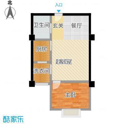 秦晋青年公寓51.22㎡户型