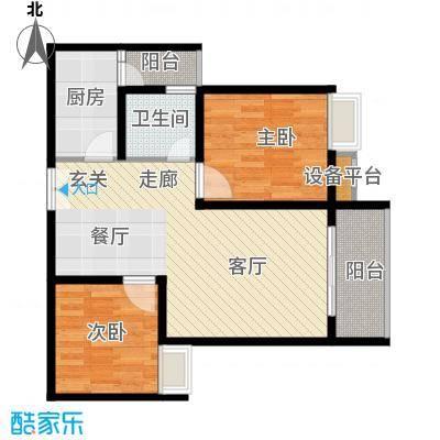 重庆金山美林61.07㎡一期1号楼标准层2号户型