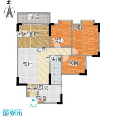 宏润巴塞阳光88.63㎡A-1号楼-12E户型