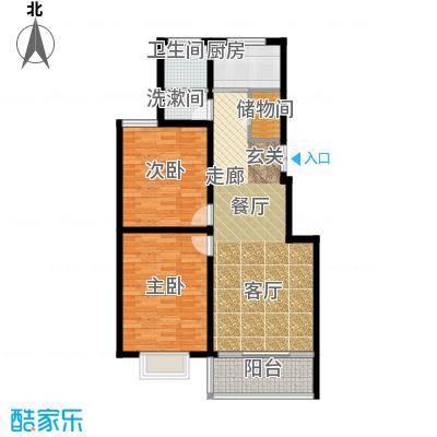 龙江秀水园88.51㎡A3户型