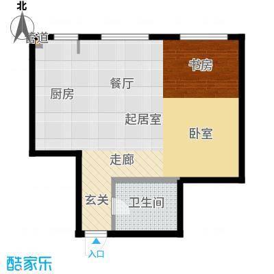丽晶书香院40.00㎡房型户型
