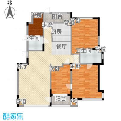 亚泰桂花苑144.00㎡户型