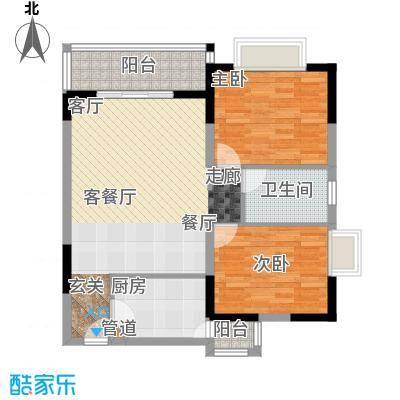石韵桂园户型2室1厅1卫1厨