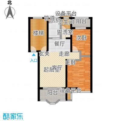 水木兰庭户型2室1卫1厨