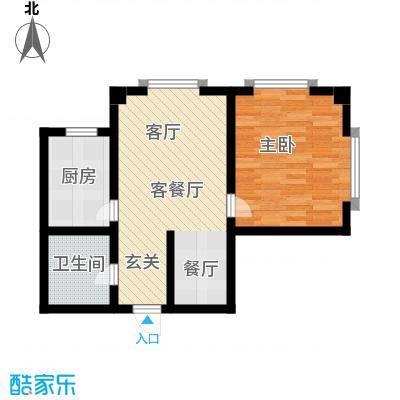 城品城户型1室1厅1卫1厨