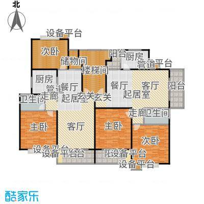 润富花园(中低价商品房)127.00㎡复式单层17253m2户型