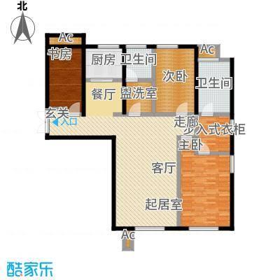 颐和香榭128.00㎡一书房户型