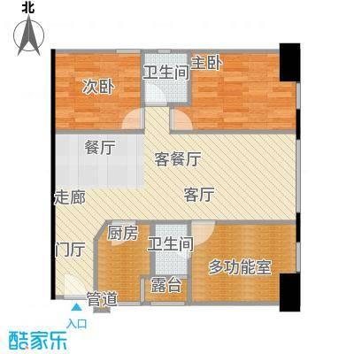 长江广场户型2室1厅2卫1厨