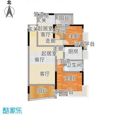 新塘广场123.36㎡A1栋03、04户型