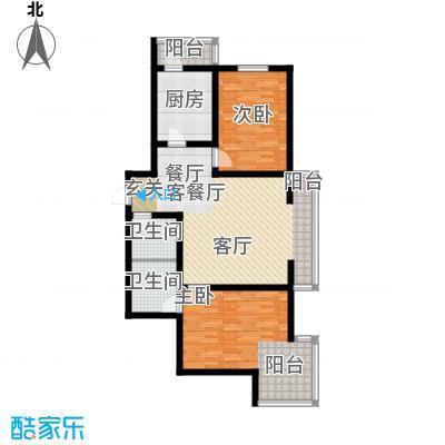 水映兰庭户型2室1厅2卫1厨
