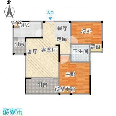 恋恋上层55.90㎡1、2栋标准层7号房户型