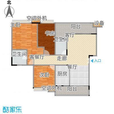 福江・名城名城116.70㎡一期4号楼1单元3层1号房3室户型