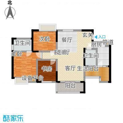 润锦・御珑山御珑山120.07㎡润锦御珑山一期5号楼标准层C2城市名邸户型