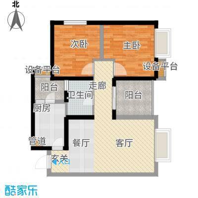 北城乐章建工・北城乐章67.31㎡一期单体楼标准层E户型