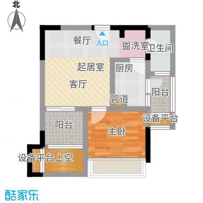 城市童话40.64㎡一期单体楼标准层B户型