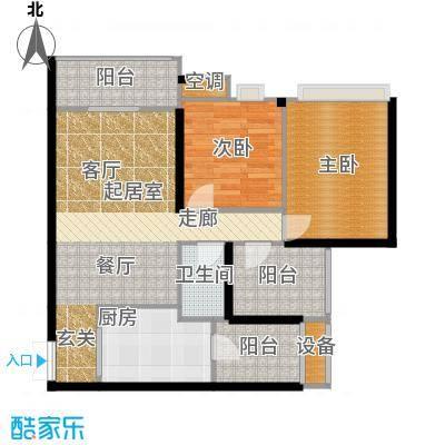 重庆天地雍江悦庭重庆天地・雍江悦庭76.00㎡4号楼1户型