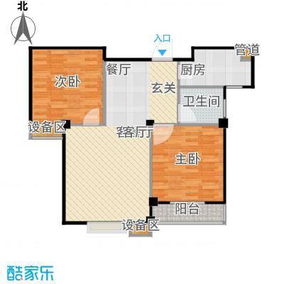 滨江怡畅园77.00㎡房型户型