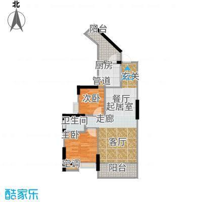祥御・巴山二期祥御巴山三期58.92㎡4号楼7双阳台户型