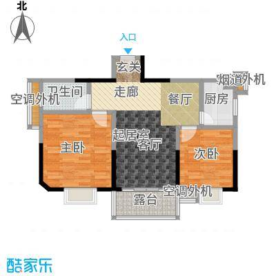 馨润尚寓77.00㎡B2座01单元户型