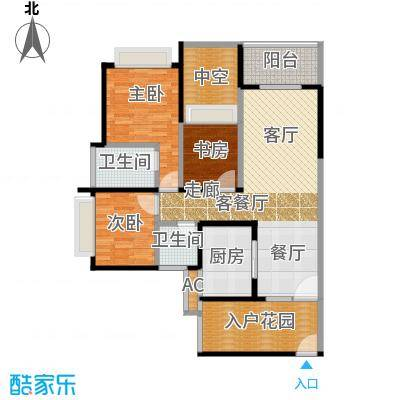 佳泰兴苑110.00㎡房型户型