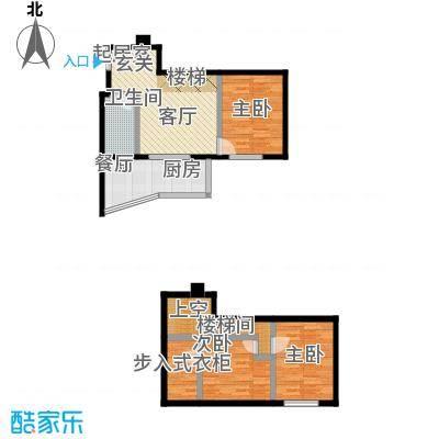银河国际住宅户型3室1卫