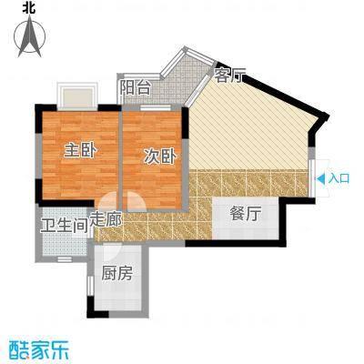 蓝海上城京光海景花园蓝海上城京光海景花园户型2室1卫1厨