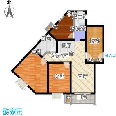 润泽新苑户型3室1卫1厨