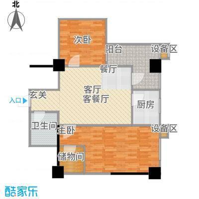 吉祥茗居户型2室1厅1卫1厨