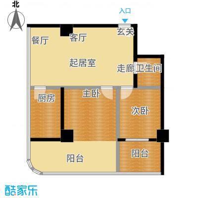 华旗国际广场105.49㎡F户型