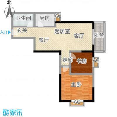 华宇上领国际公寓92.28㎡2#C户型
