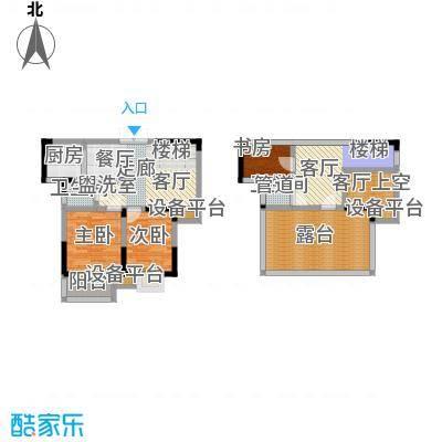 滨河御景户型3室1厅2卫1厨