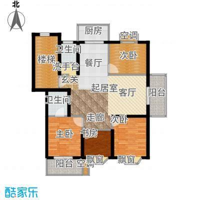 腾泰雅苑104.00㎡方户型