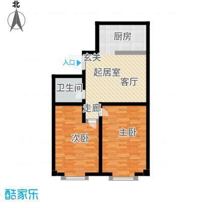 城品城户型2室1卫