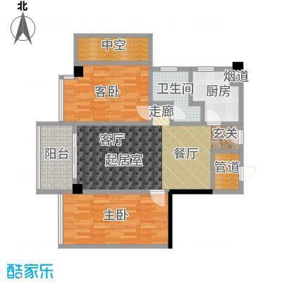 颐和雅轩82.03㎡南塔22层03单元户型