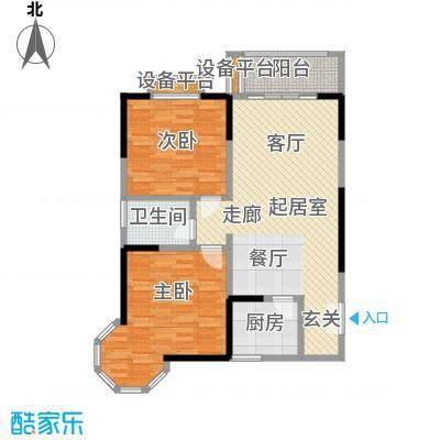 龙记帝景湾90.50㎡B户型