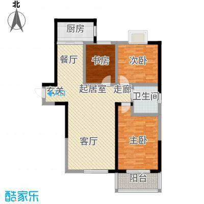 华宇上领国际公寓112.00㎡3#和4#A户型