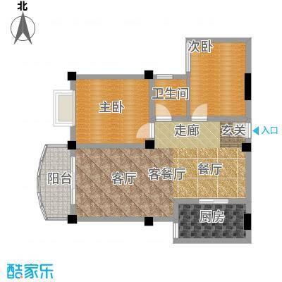 金源华庭95.69㎡房型户型