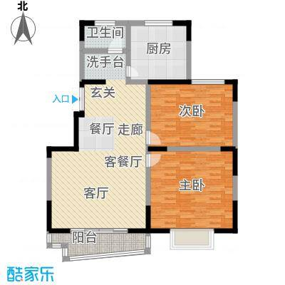 林景・瑞园93.58㎡9504M2户型