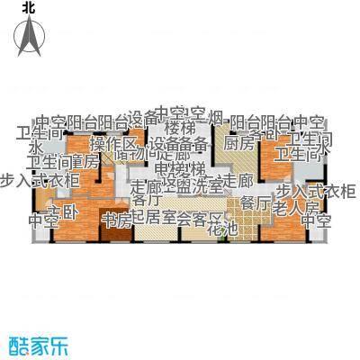 荣兴云天199.00㎡南向会客系统餐厨系统双主卧户型