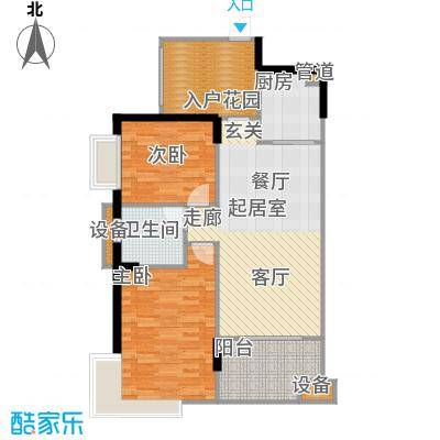 广电江湾新城93.00㎡户型