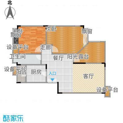 琴台颖园89.88㎡房型户型