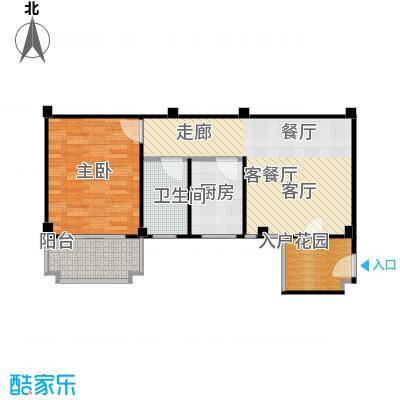 五里汉城42.00㎡房型户型
