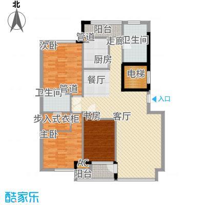 亚泰桂花苑123.00㎡户型