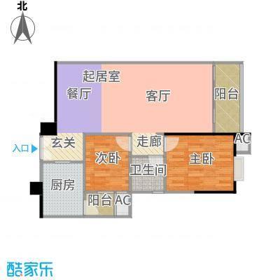 东银广场户型2室1卫1厨