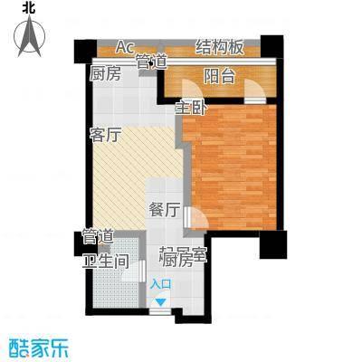 嘉业国际城79.86㎡精装公馆B34-18层户型