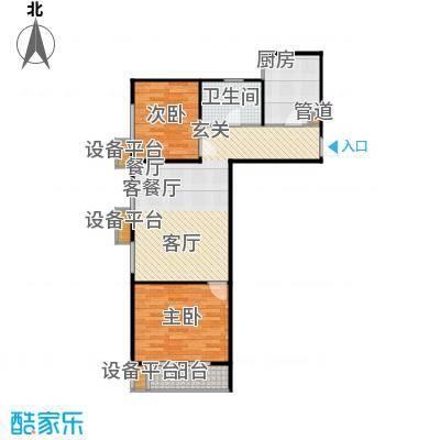 世佳戎居户型2室1厅1卫1厨